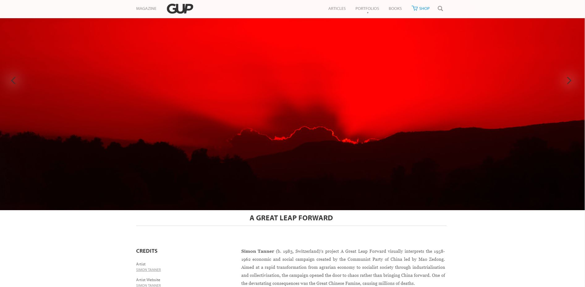Happy to be published in GUP Magazine, June 2019   http://www.gupmagazine.com/portfolios/a-great-leap-forward