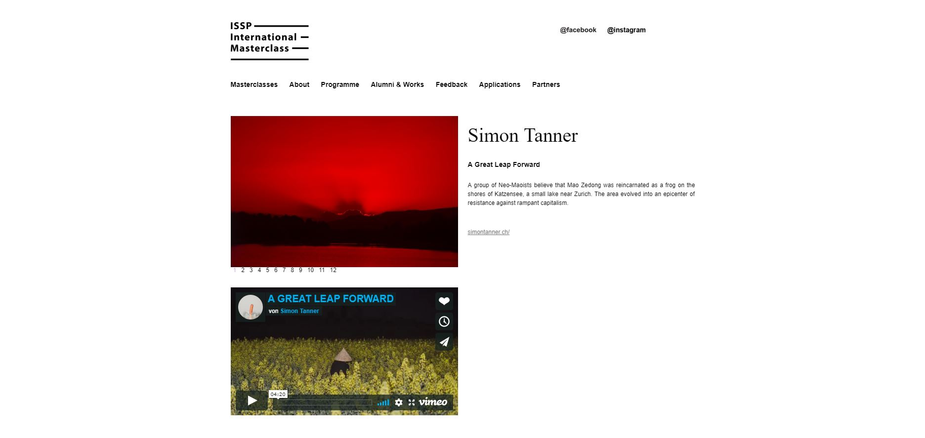 My new series A GREAT LEAP FORWARD is out. It was produced during the ISSP Masterclass in Latvia.   http://isspmasterclass.com/simon-tanner/