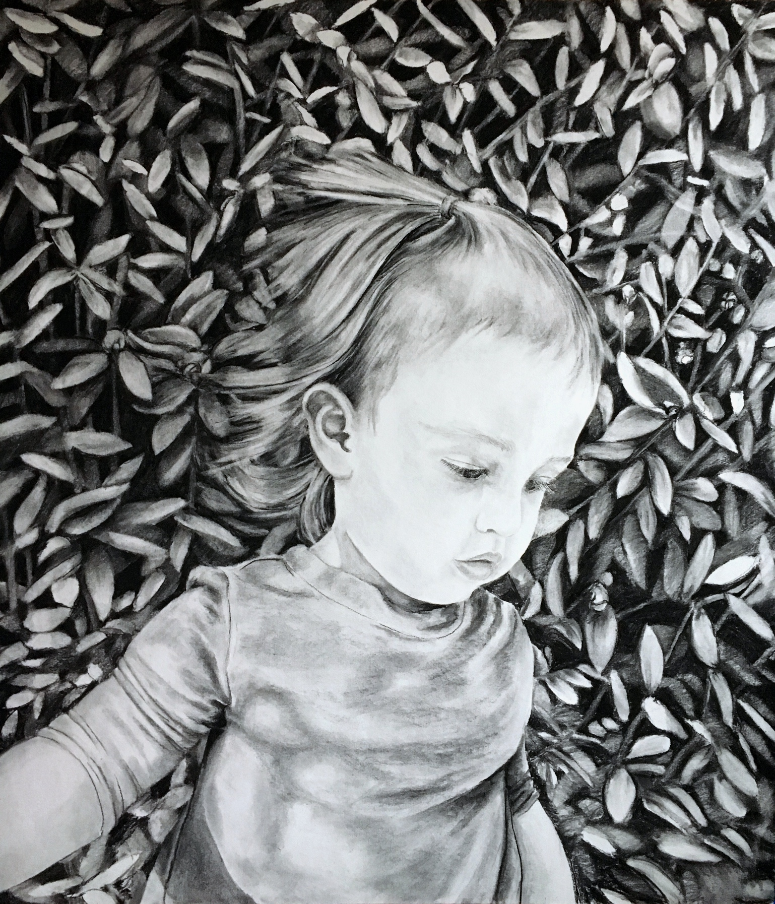 Aurilla , charcoal on paper, 2016