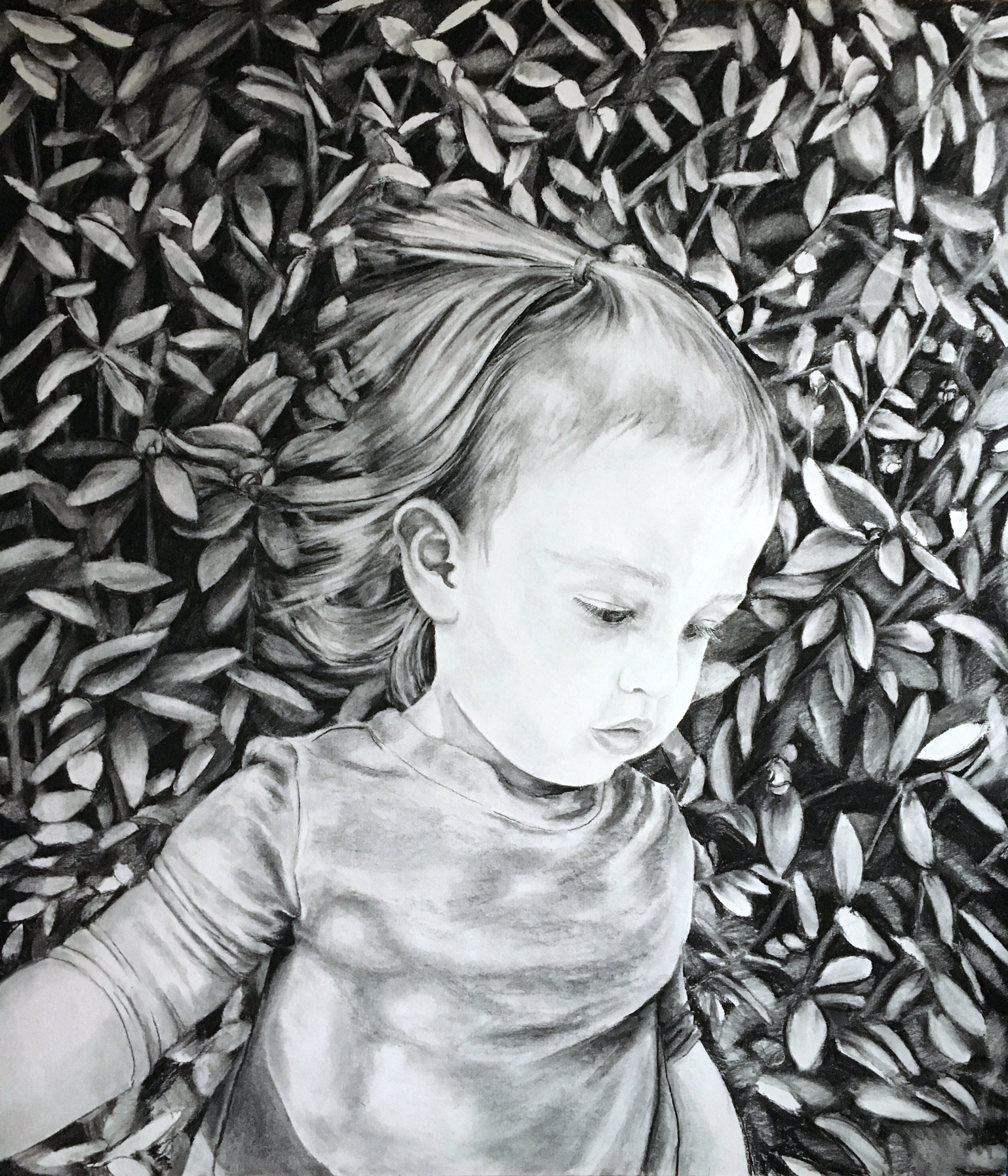 "Aurilla , charcoal on paper, 36.5"" x 42"", 2016."