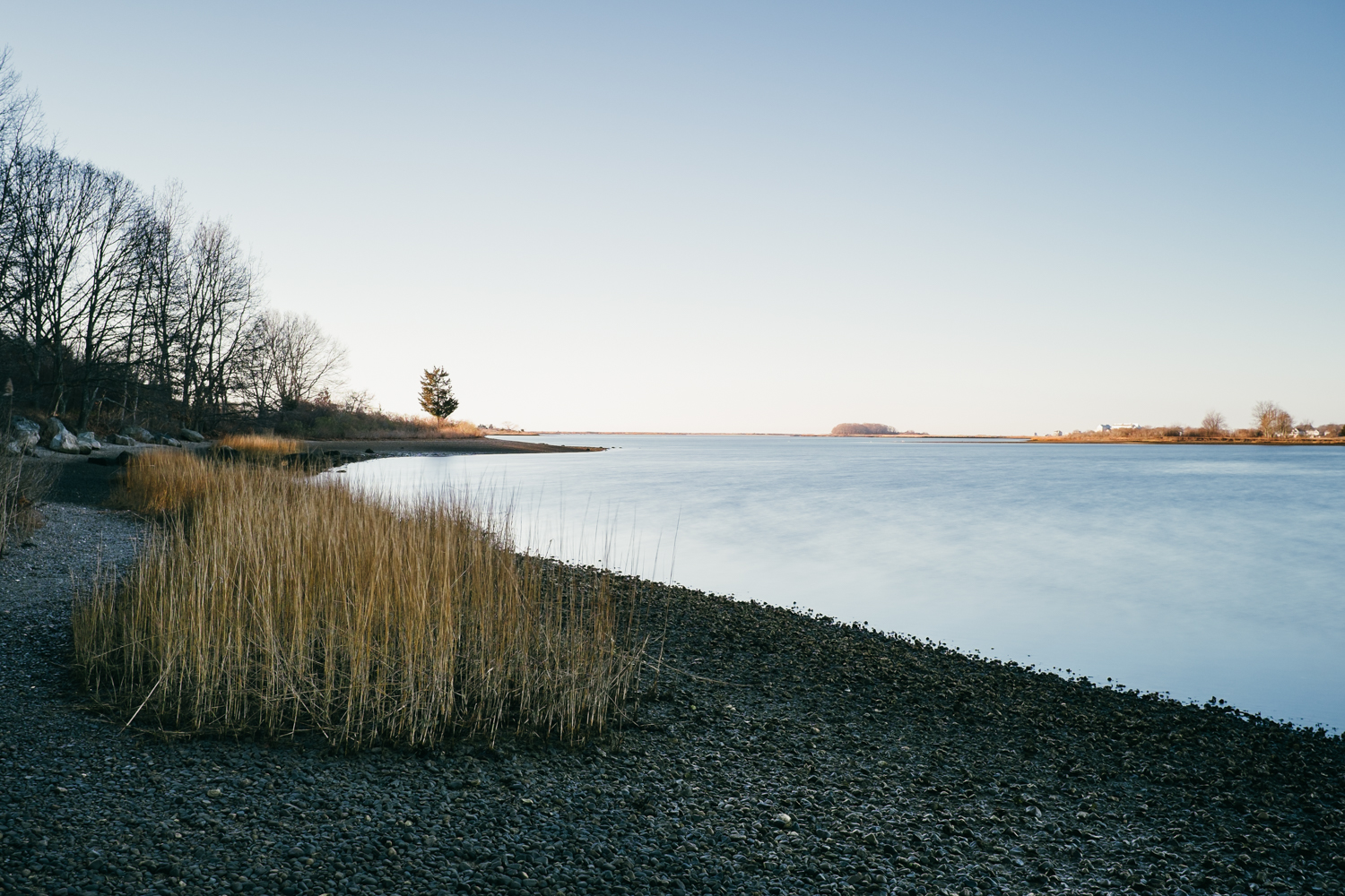 Morning hike at Bluff Point State Park -- 45s exposure