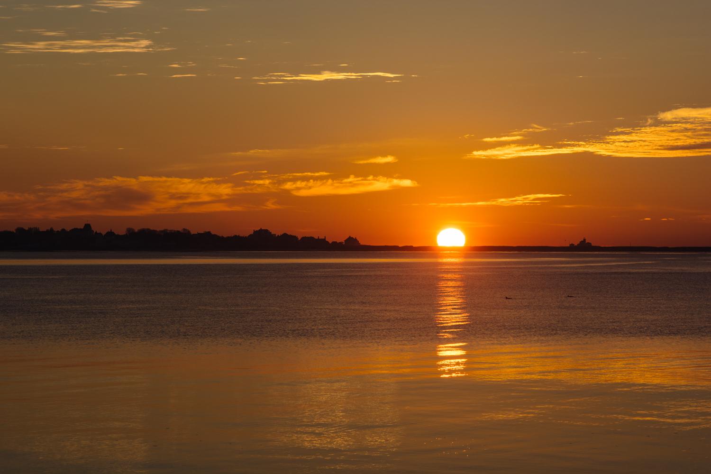 Sunrise over Stonington Point...