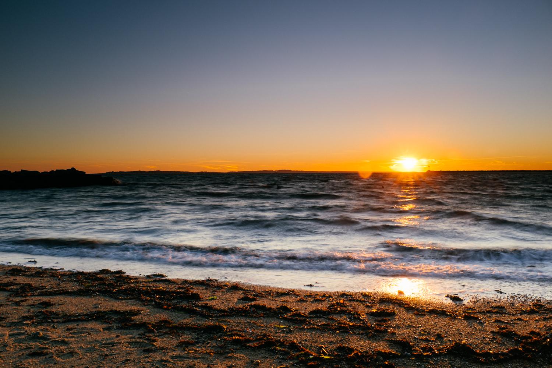 ...and sunset over Stonington Point