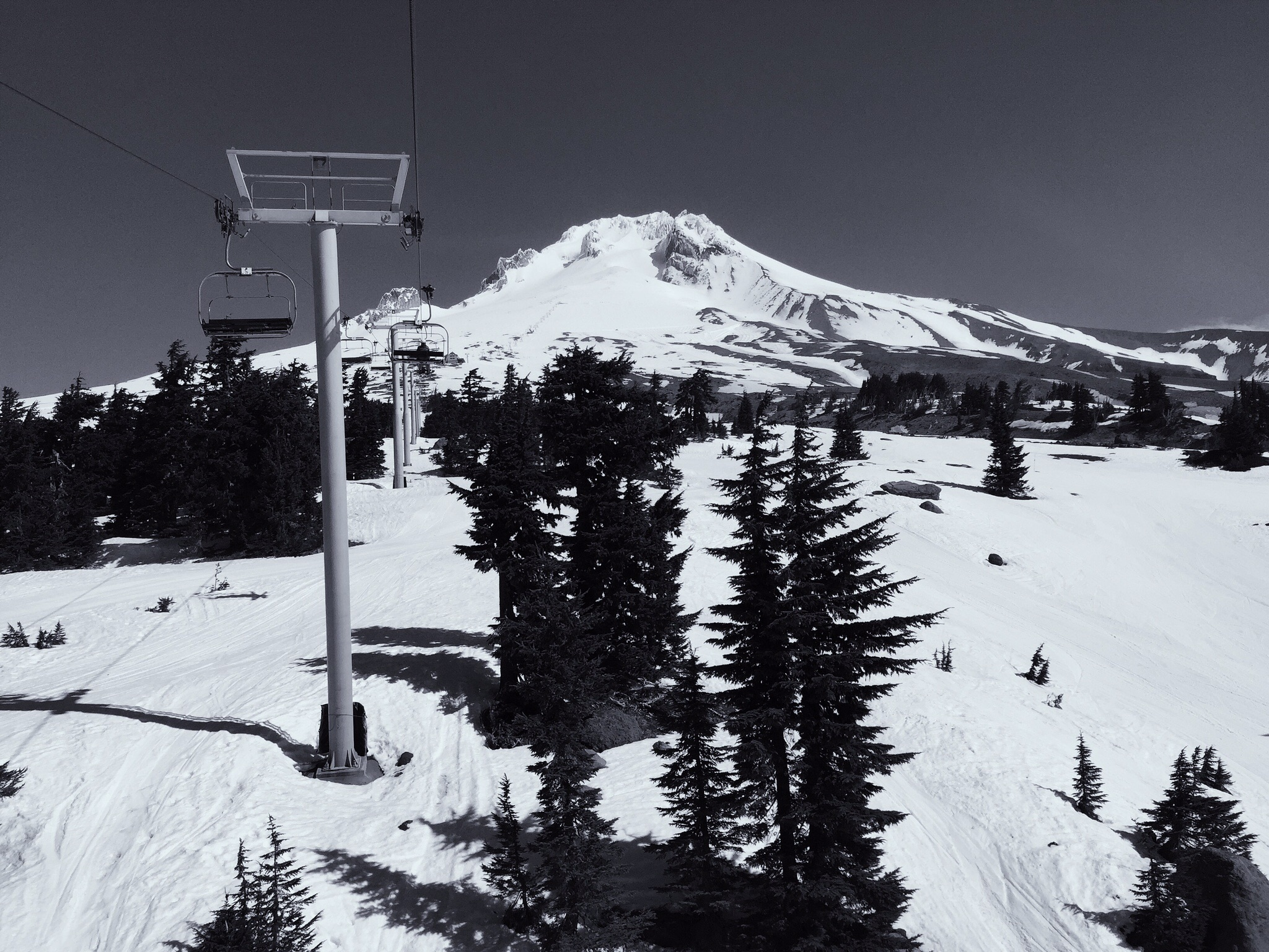Ski lift on Mount Hood