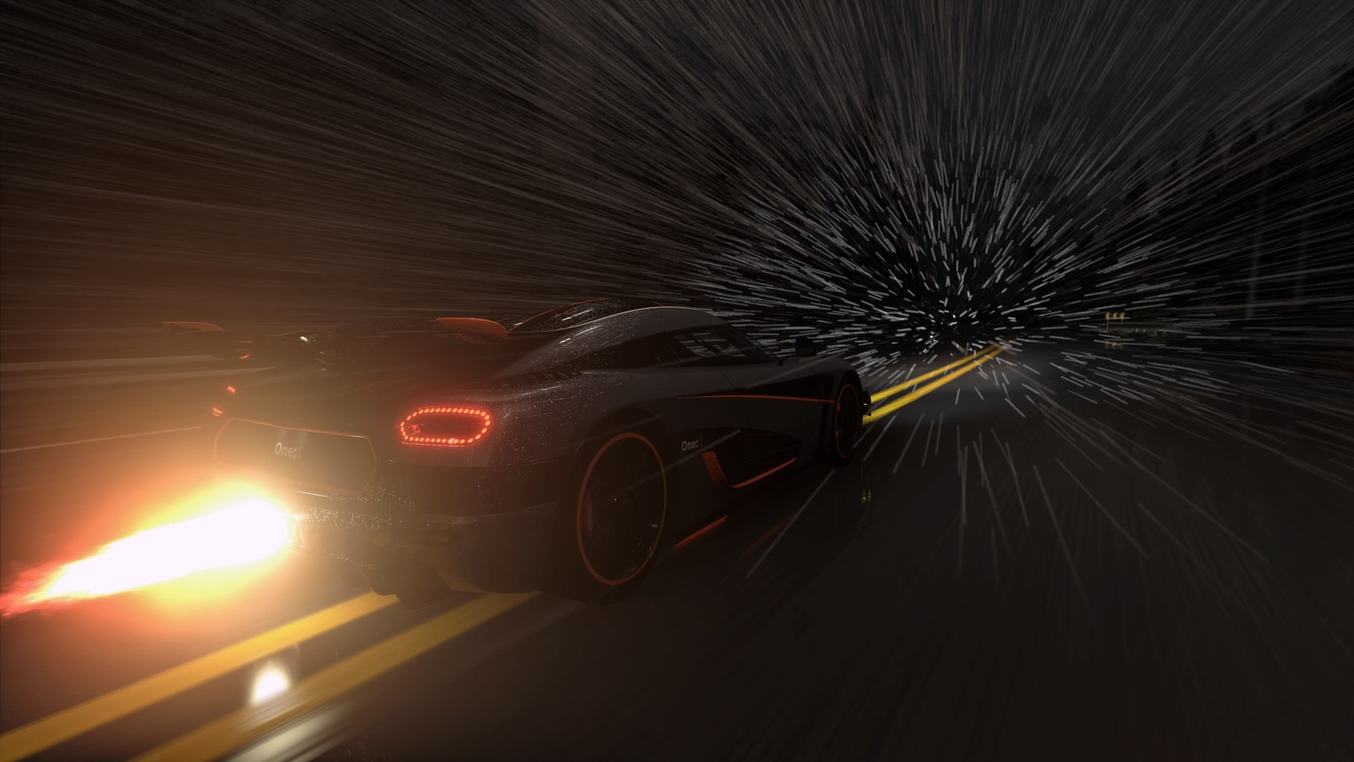 The  Koenigsegg One:1 is terrifying, especially in the snow. And it farts fire.