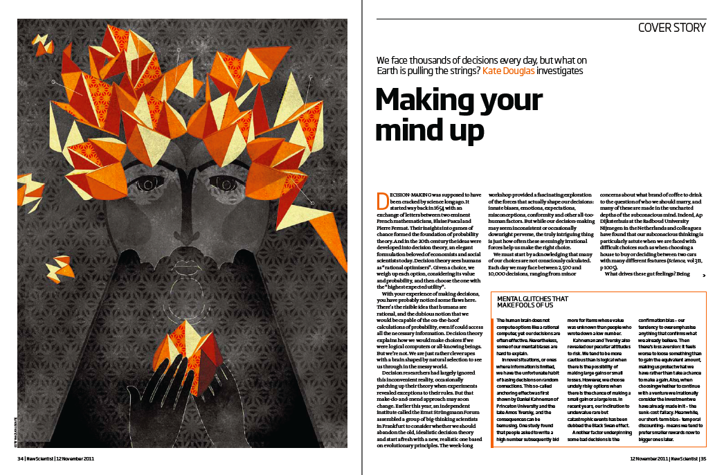 Project:  Decision Making, 2011.  Client:  New Scientist