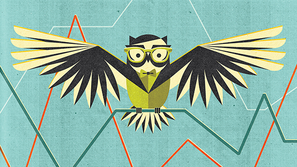 Project:  Cover image for The Owl at Chase.com,  Client:  JPMorgan Chase & Co., 2015