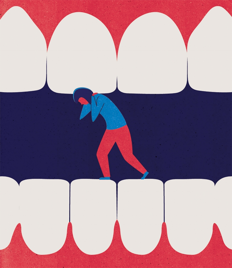 Project:    Teeth Grinding,    Client:    Prevention Magazine, 2018