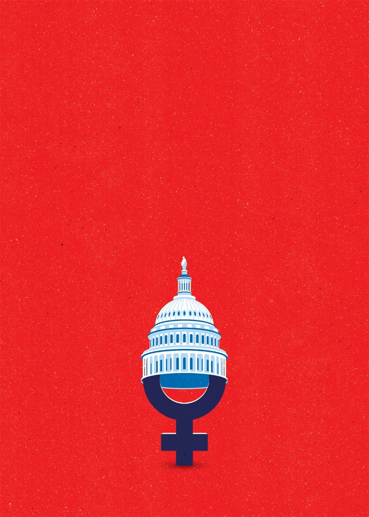 Project:    Trump's election electrified women candidates and voters who organized, united, and now are aiming for the Congress in November,    Client:    AMERICA magazine (France), 2018