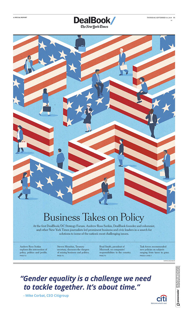 Project : DealBook: Business Takes on Policy,  Client : The New York Times