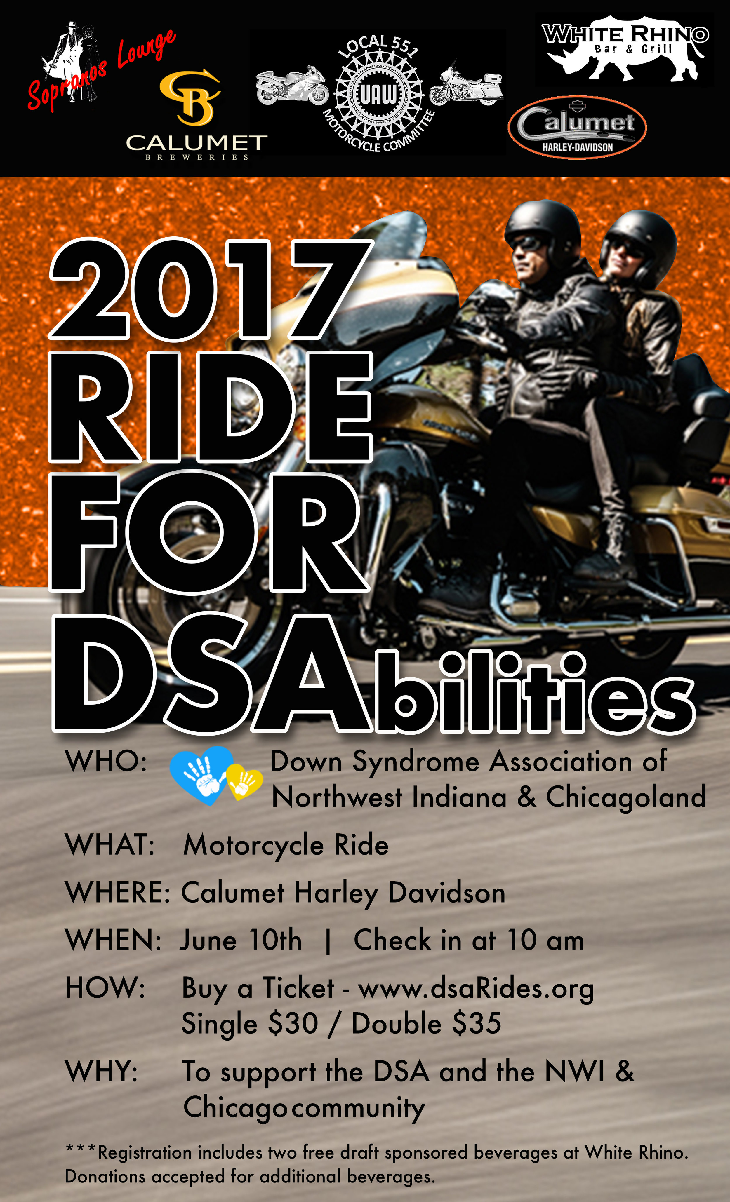 Down Syndrome Association Ride