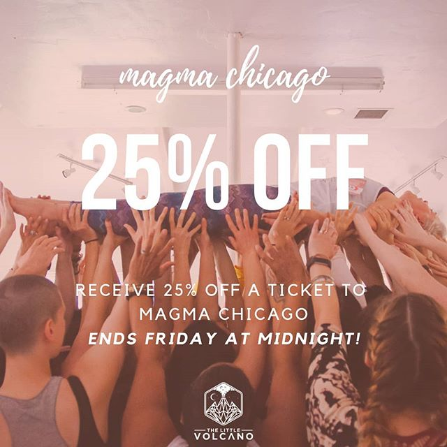 "Our 4 day transformational event MAGMA Chicago is currently 25% OFF.  This deal ends tomorrow night at midnight, you do not want to miss out on this!  MAGMA is an experience like nothing else, take it from Billie Sue, who said, ""Before Magma I was struggling with Self Love and felt unlovable. At Magma this happened for me - Kit had me lay down and everyone laid hands on me and spoke love and light into my soul. Then they lifted me up and carried me in front of a full length mirror and I spoke all that love to myself until I felt it in every fiber of my being. Now I am able to be a Beautiful, Lovable, Trans-Woman Leader and I feel unstoppable!"" You don't need to struggle anymore, you don't need to feel unloved or unsupported.  You deserve to be lifted up to your highest self and held there by your community until you feel it in your core.  Don't let this opportunity pass, head to the link in my bio and take advantage of this deal before it's too late.  We want to support you, we want to lift you up to your highest self, but it's up to you to make that a reality."