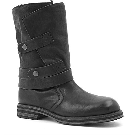 Carvela Sassy Biker Boots with Fleece Lining £195