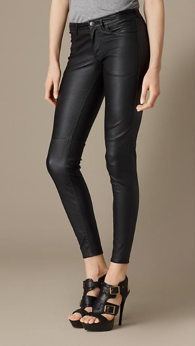 Burberry Skinny Fit Leather Trousers £795