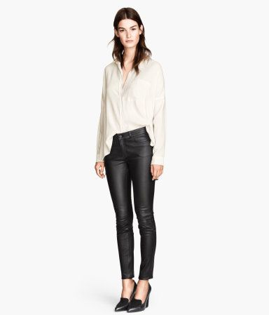 H&M Skinny Fit Leather Trousers £179.99