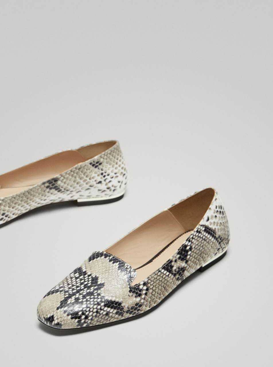 Animal Print Leather Slippers