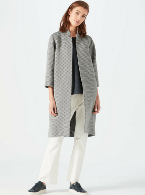 Jigsaw collarless coat