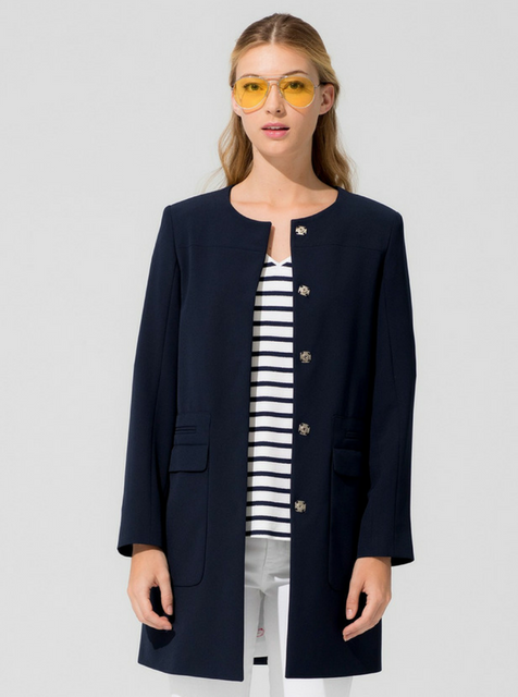 vilagallo collarless coat