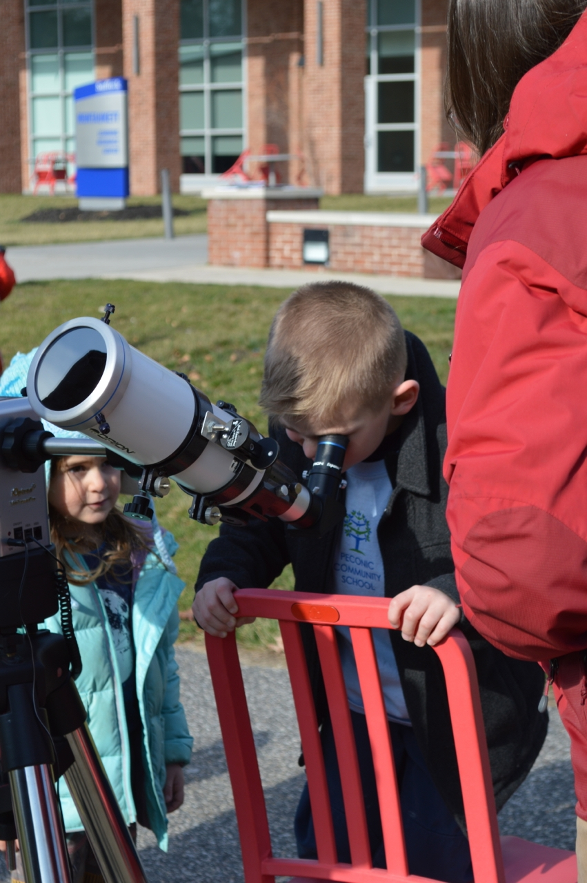 Students visit Suffolk Community College Planetarium to kick off their winter astronomy unit.