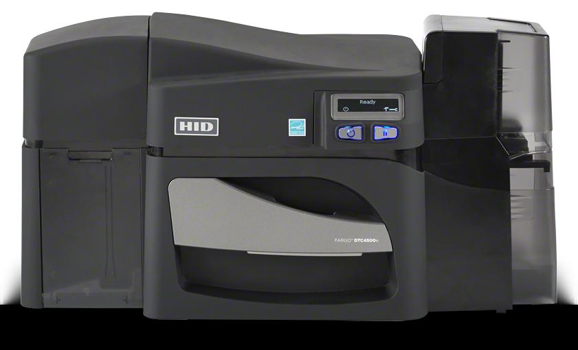 FARGO® DTC4500e com gravador, para impressão de grandes volumes de cartões  Alta segurança eficiência na produção de cartões mais duráveis e seguros