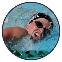 RISE female mentee swimming