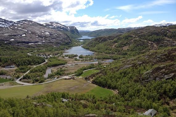 Utsikt fra klatrefeltet