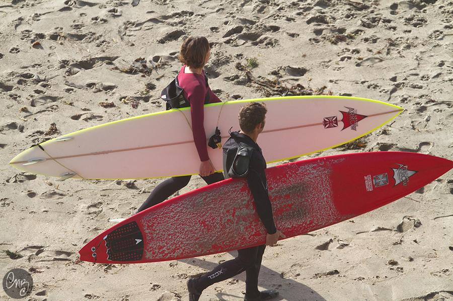 Up next, Mike and Sarah Gerhardt... Sarah was the first female to surf Mavericks  Photo Credit: Nikki Brooks