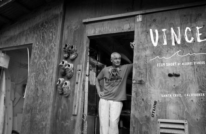Highly acclaimed surfboard shaper and artist Vince Broglio