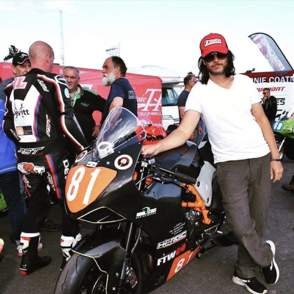 I will be interviewing motorcycle racer Yuri Barrigan on his recent trip to the Isle of Man to compete in very dangerous the Isle of Man TT races.