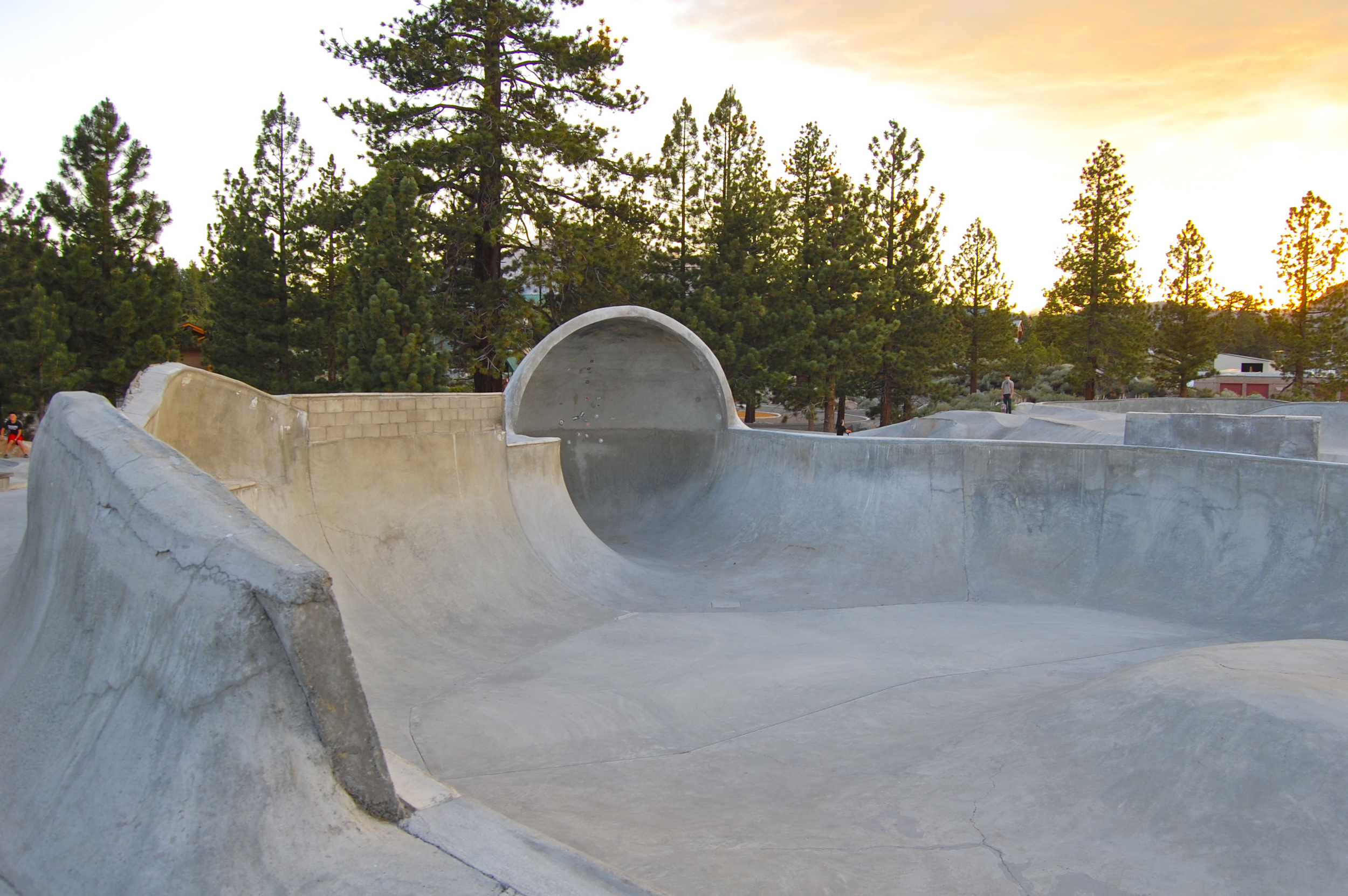 Volcom Brothers Skatepark features a massive cradle that challenges the most seasoned vert/bowl skater.
