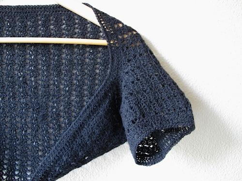 summer shrug sleeve detail