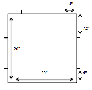Here is a very basic schematic to give you the general idea. Adjust measurements as needed.