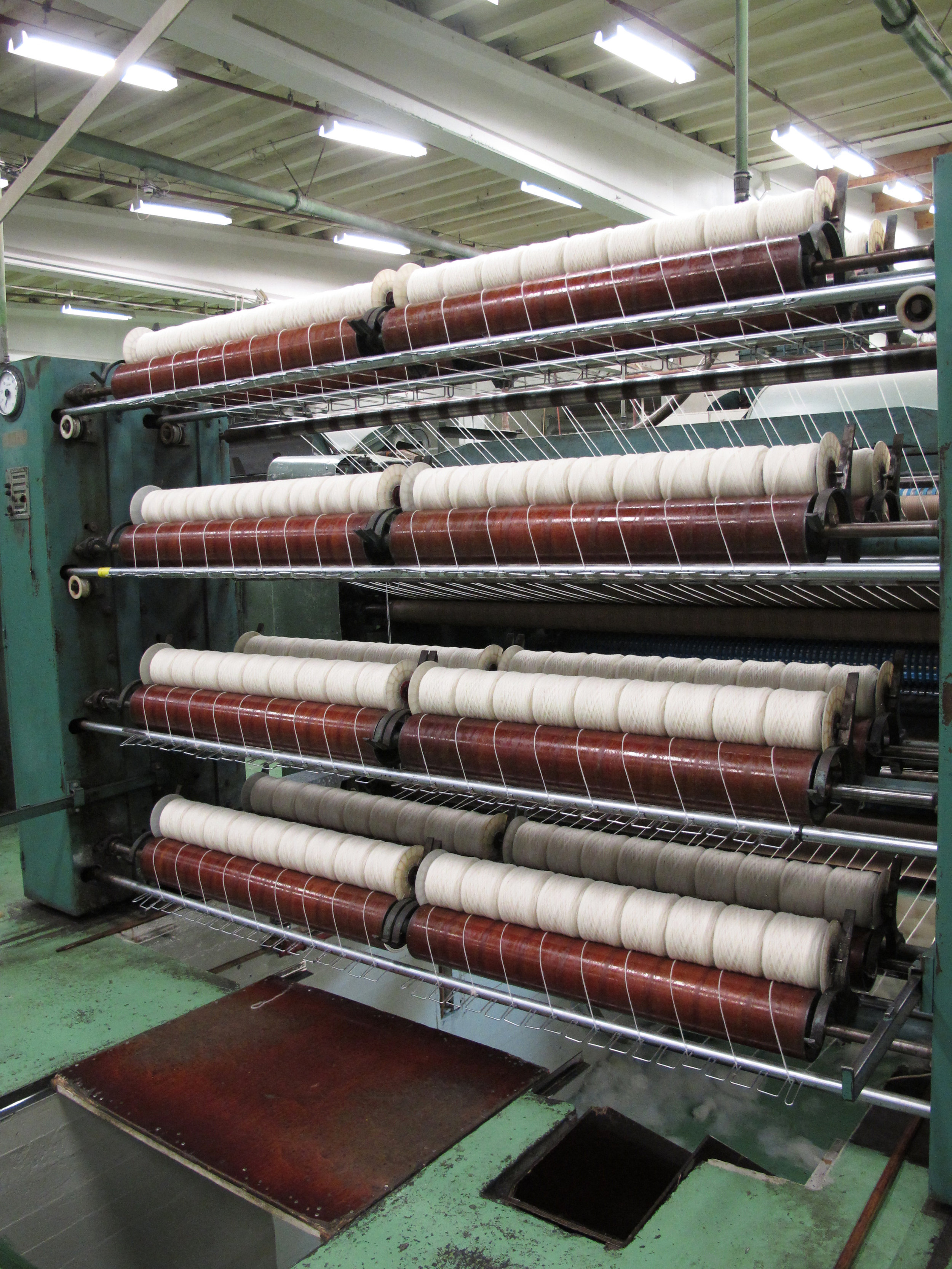 Making the threads before spinning and plying - this stage is what's known as plötulopi