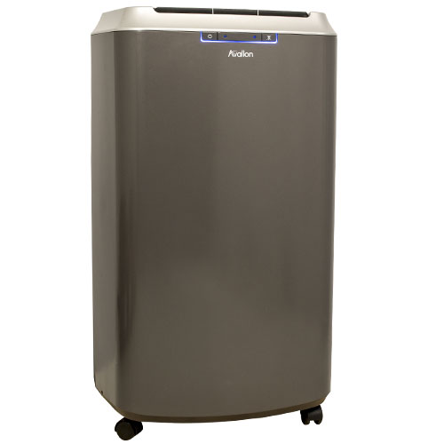 APAC140HC - Avallon Dual Hose Portable Air Conditioner and Heater - Grey and Silver- Up to 525 Sq. Ft. of Cooling