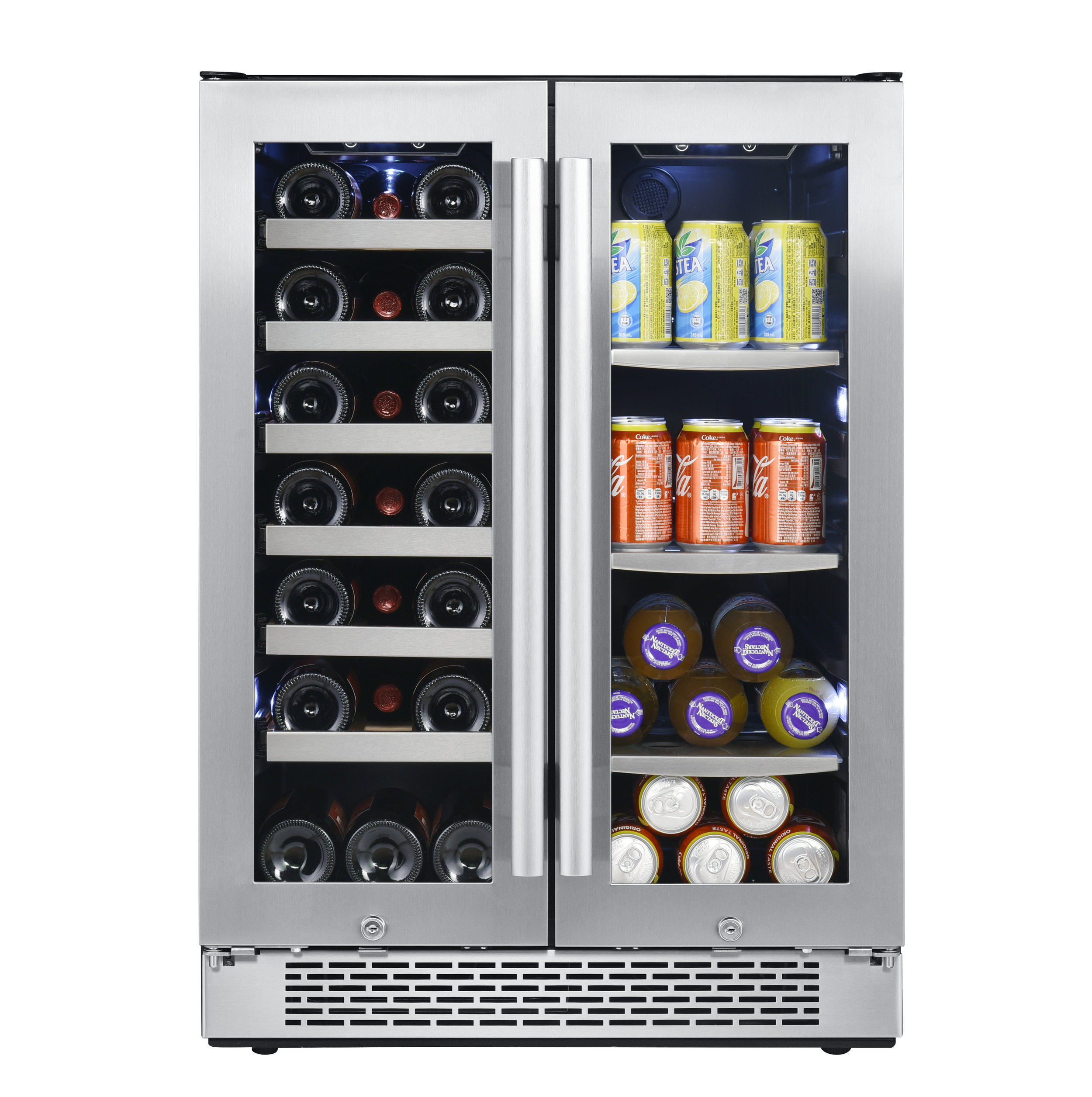 AWBC241GGFD Avallon 21 Bottle 60 Can Built-In Wine and Beverage Cooler