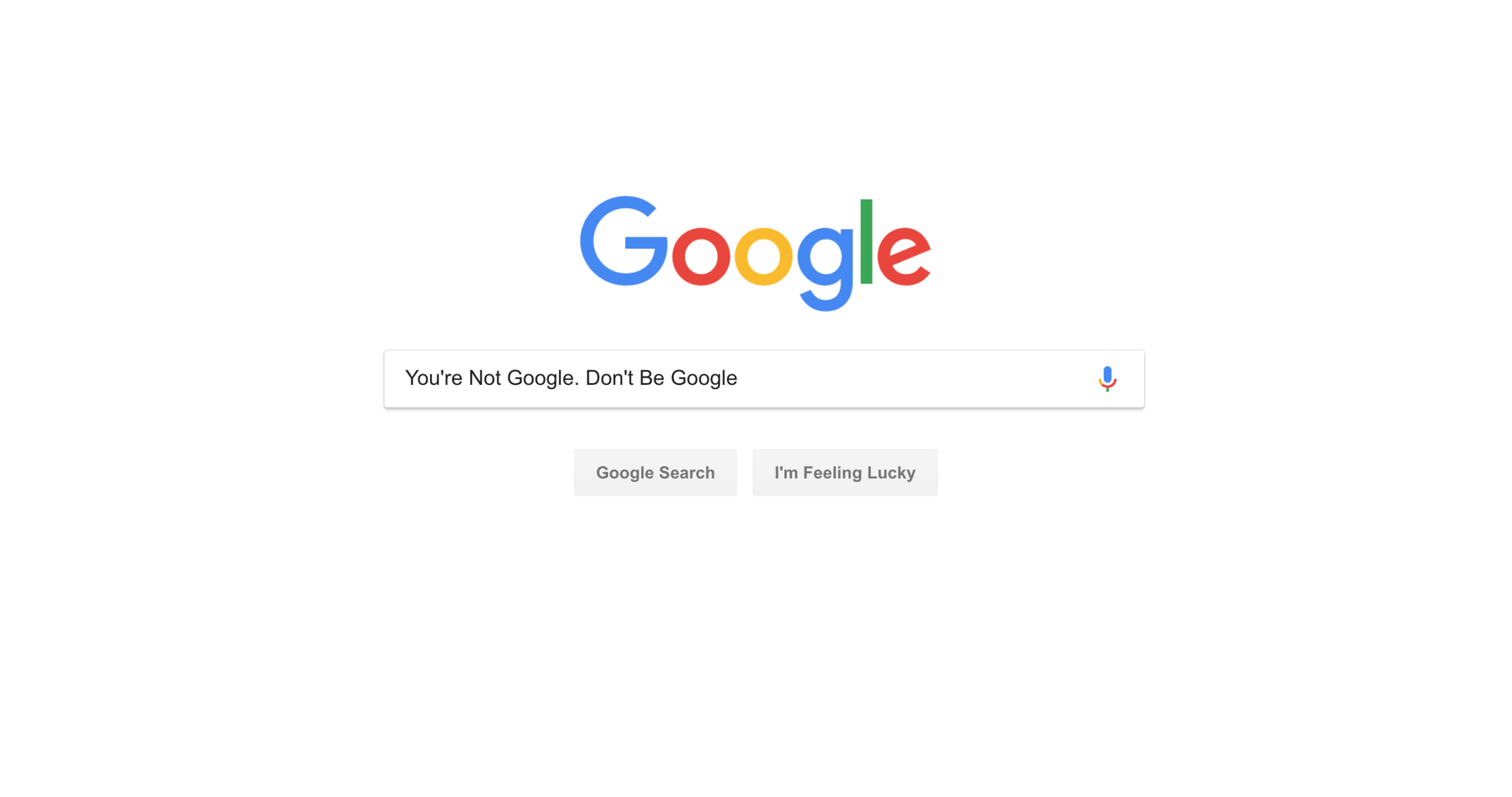Google search bar page