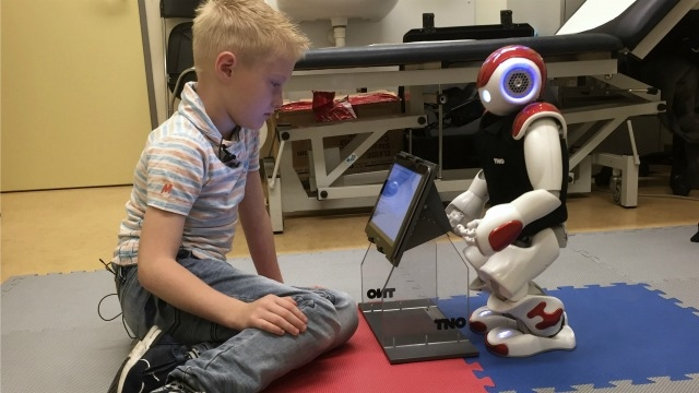 Ruben's robot can expertly measure his blood sugar and count carbohydrates in a glass of milk. This  is helping him manage his diabetes at the Gelderse Vallei hospital in Ede, the Netherlands, on June 28, 2016. (AFP photo - Image Courtesy)