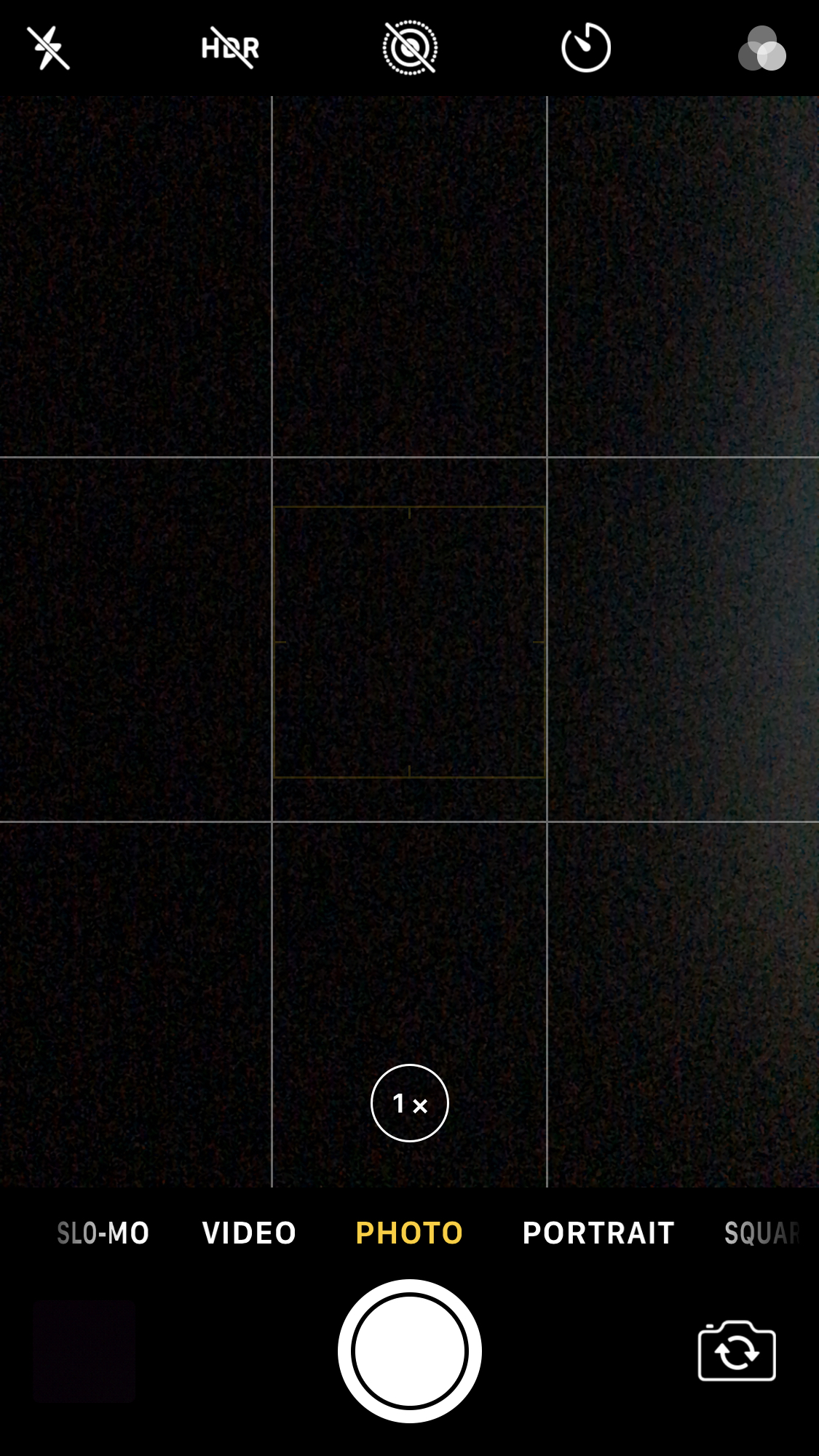 This is the grid setting for an iPhone - When turned on, it will show up in front of whatever you want to take a picture of.