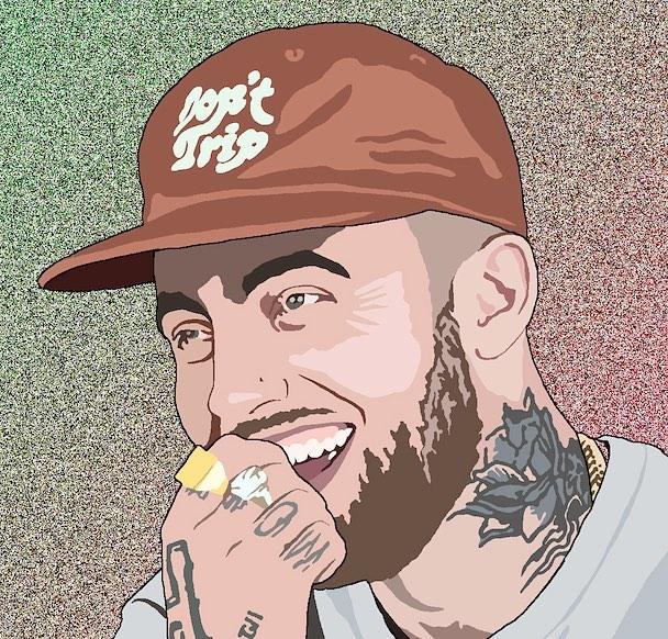 How I'd like to remember him. #ripmacmiller #macmiller #hiphip #rap #wacom #art #drawing