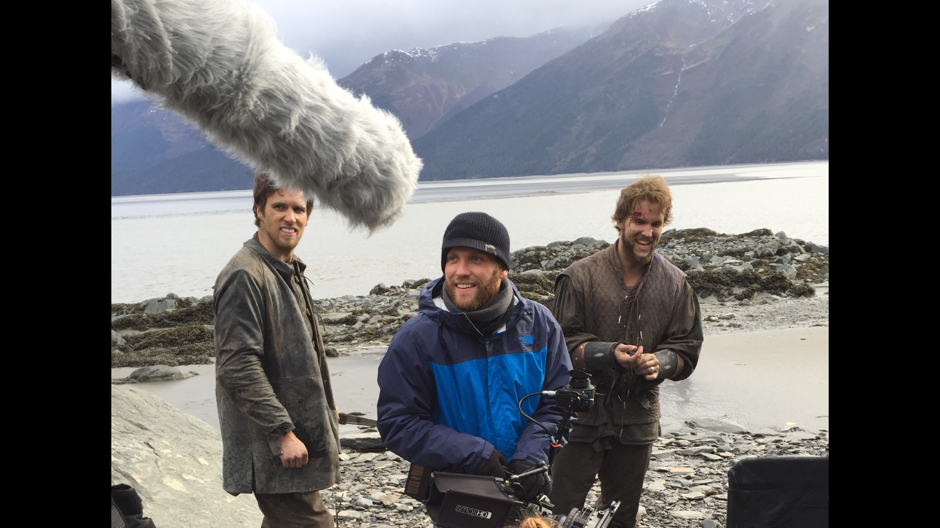 """On location in Alaska for the short """"Finding Fire"""""""
