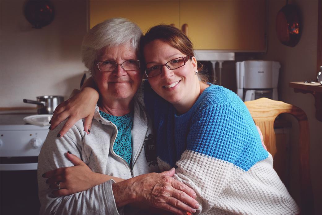 Grandma and my sister Johanna.