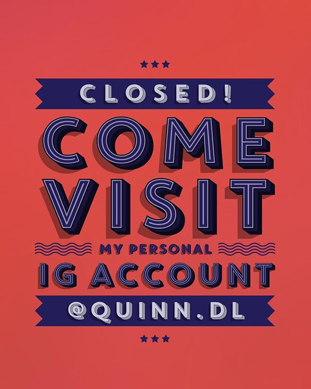 Don't want to juggle 2 accounts anymore! Come say hi at my personal account @quinn.dl 😊