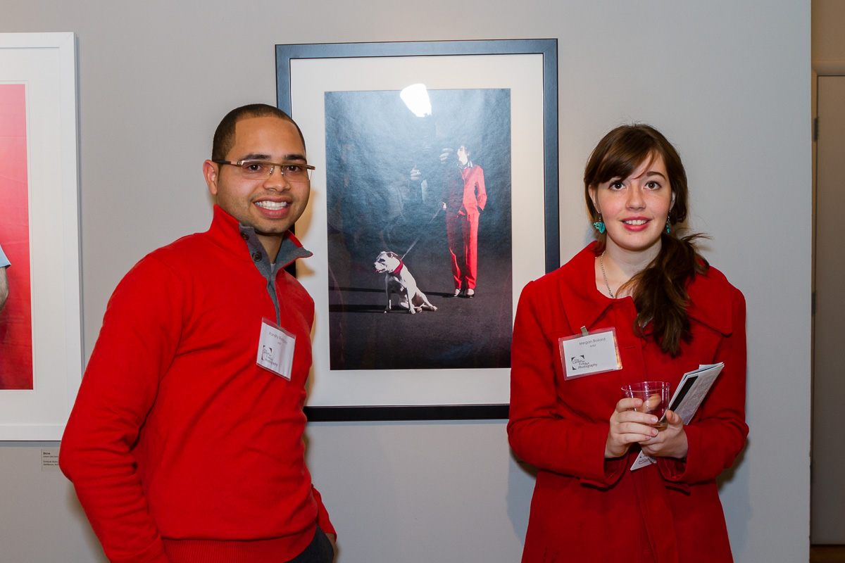 Left to Right: Randhy Rodriguez ,(MB's Work)and Meghan Boilard