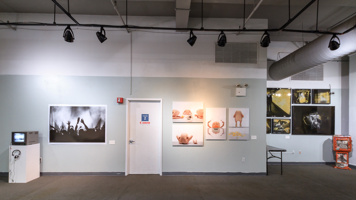 Left to right, works from  Vicente Muñoz ,  Masha Ermak  and  Clay Patrick McBride