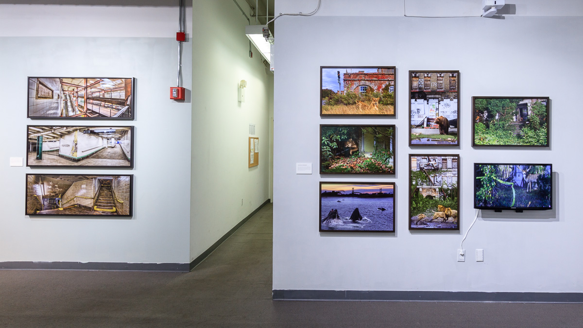 Left to right, works from  Randhy Rodriguez  and   Yannick Bindert