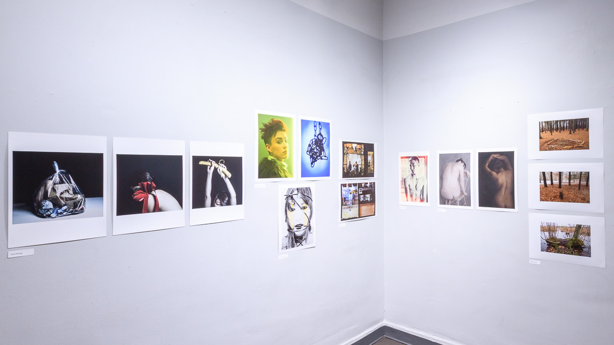 Left to right, works from Hsin Wang,  Andre Avanessian ,  Adriano Hultmann ,  Sarah Jun , Henny Gylfadottir, Ailin Blasco and Mark Roussel