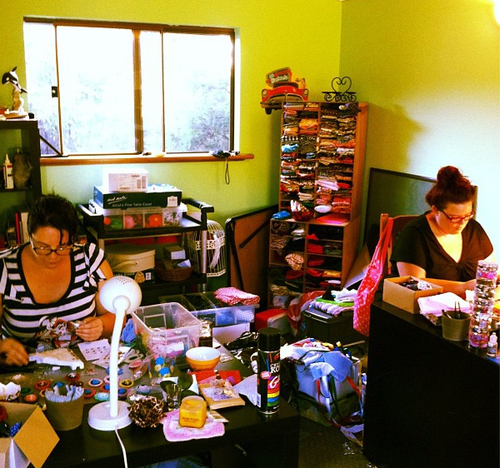 Erin & Jaice Hard at it in the DedHed HQ's!