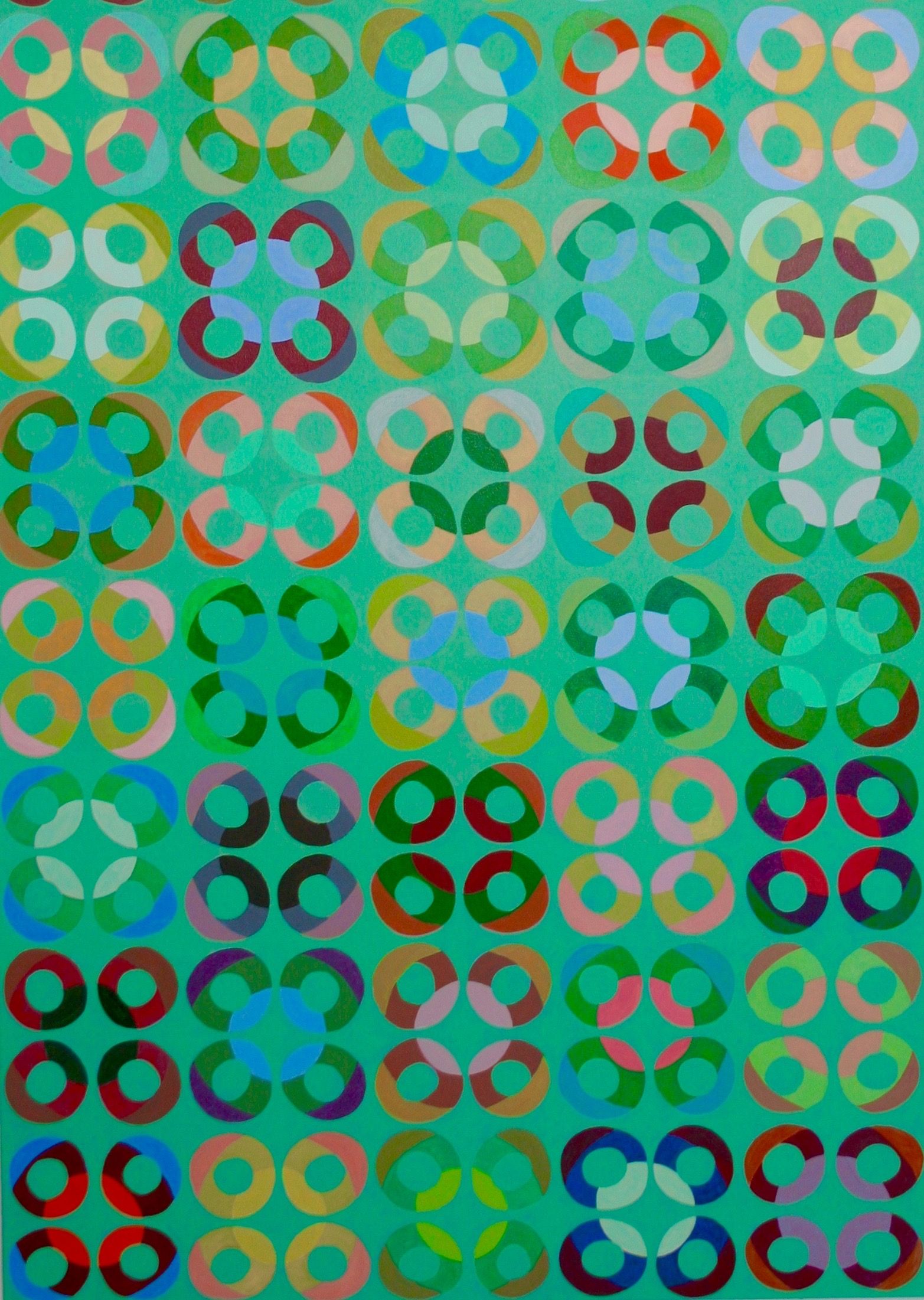 "atmosphere 18, 2014, acrylic on canvas, 36"" x 60"""