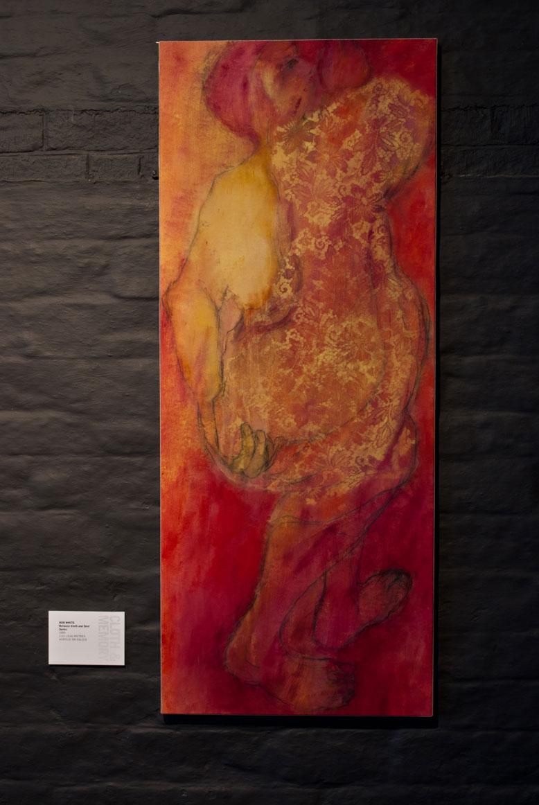 Between Cloth & Skin Series 2004. No.1 163 x 66cm. Acrylic on calico
