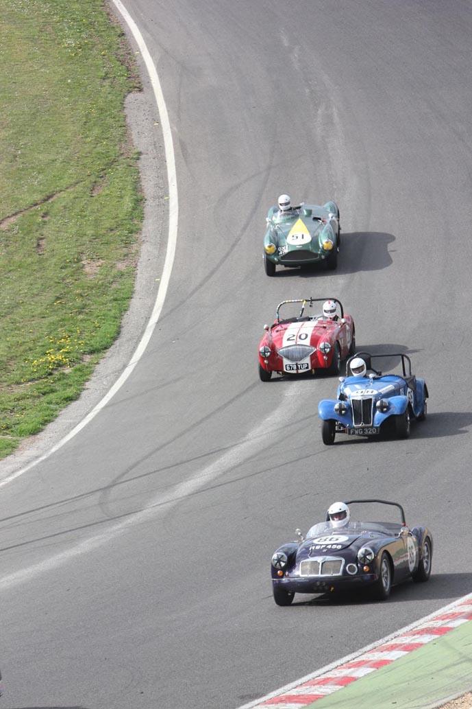 Three Marques into Paddock Hill  Photo - Pat Arculus